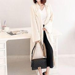 Seoul Fashion - Notched-Lapel Pocket-Detail Cardigan