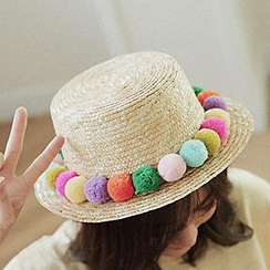 Hats 'n' Tales - Ball Accent Straw Hat