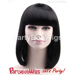 Party Wigs - PartyBobWigs - Party Medium Bob Wig - Black