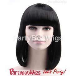 Party Wigs - PartyBobWigs - 派对BOB款中长假发 - 黑色