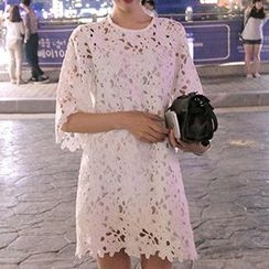 Ashlee - Elbow Sleeve Lace Dress