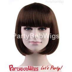Party Wigs - PartyBobWigs - Party Short Bob Wig - Brown