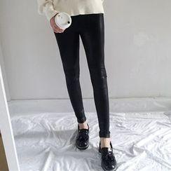 Dute - Faux Leather Leggings