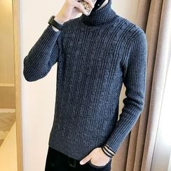 Bay Go Mall - Turtleneck Knit Top
