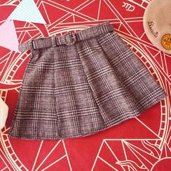 Rega - Plaid Pleated Skirt