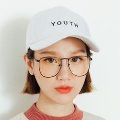 Heynew - Square Metal Frame Glasses