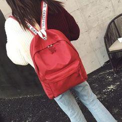 薇薇 - 印字貼布繡背包