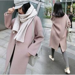 Mariposa - Plain Long Woolen Coat