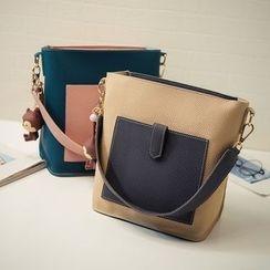 Beloved Bags - 套裝: 插色肩包 + 斜挎包