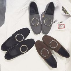 SouthBay Shoes - Round Buckle Loafers