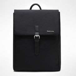 Asphalt - Faux-Leather Laptop Backpack