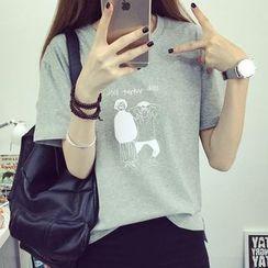 Fashion Street - Print Short-Sleeve T-shirt