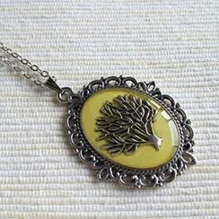 MyLittleThing - Silver Tree Necklace (Yellow)