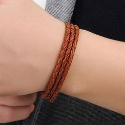 Andante - Genuine Leather Woven Bracelet