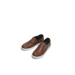Ohkkage - Zip-Trim Slip-On Shoes