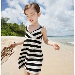 Cuckoo - 儿童条纹吊带连衣裙