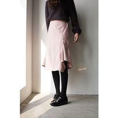 CHERRYKOKO - Ruffled Detail Midi Skirt