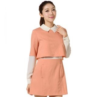 YesStyle Z - Two-Tone Layered Dress