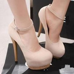 Mancienne - Ankle-Strap Platform Stilettoes
