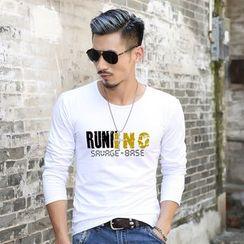 VILUNI - Letter Long-Sleeve T-shirt