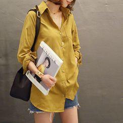 NANING9 - Cotton Plain Shirt