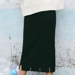 Porta - Fray Knit Skirt