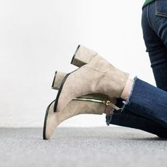 VIVIER - Zip-Up Faux-Suede Booties