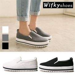 Wifky - Platform Canvas Sneakers