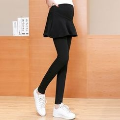 Dadada - Maternity Inset Leggings Skirt