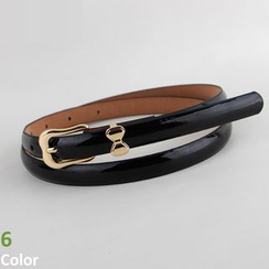 Goldenrod - Bow Faux-Leather Belt