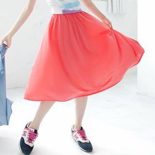 Tokyo Fashion - Elasticized-Waist Midi Skirt