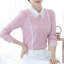菲兒 - 蕾丝长袖衬衫