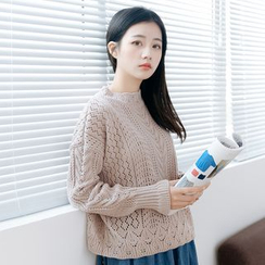 Forest Girl - Open Knit Sweater