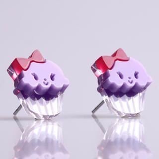 Sweet & Co. - Miss Cupcake Berry Stud Silver Earrings