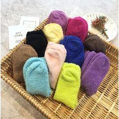 FROME - Plain Coral Fleece Socks