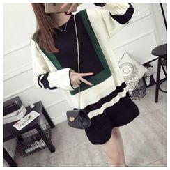 Pecora - Color Block Sweater Dress