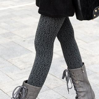 SO Central - Leopard Fleece Lined Tights