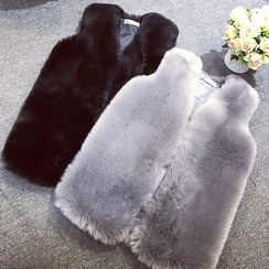 Kaboom - Faux-Fur Long Vest