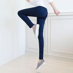 CLICK - Elastic-Waist Skinny Pants