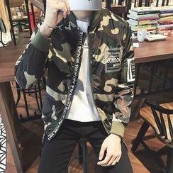 JORZ - Camouflage Print Bomber Jacket