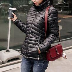 Seoul Fashion - Detachable Hooded Zip-Up Padded Jacket