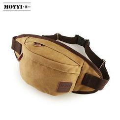 Moyyi - 贴布绣帆布腰包
