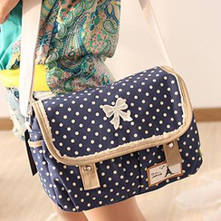 Canvas Love - Dotted Canvas Messenger Bag