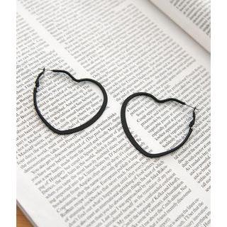 Petit et Belle - Heart Hoop Earrings