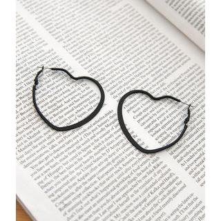 Petit et Belle - Heart Hoop Earrings