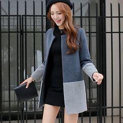 looknice - Color Block Long Coat