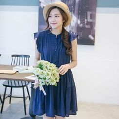 Tokyo Fashion - Frilled Sleeveless Chiffon Dress