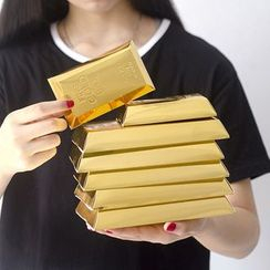 KIITOS - Gold Brick Shaped Gift Bag