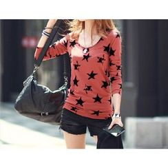 Zyote - Long-Sleeve Star Print T-Shirt