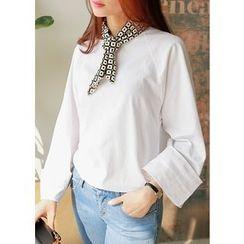 J-ANN - Raglan-Sleeve Wide-Cuff T-Shirt